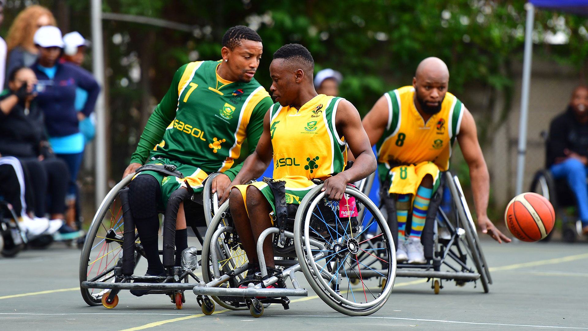 Wheelchair basketball playing at Netcare Hospital