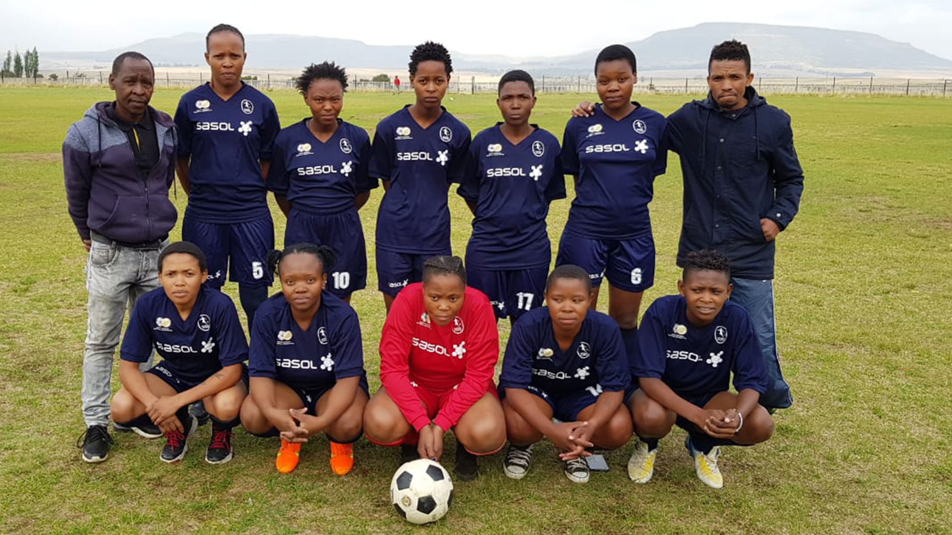 team photo of Phumelela Warriors