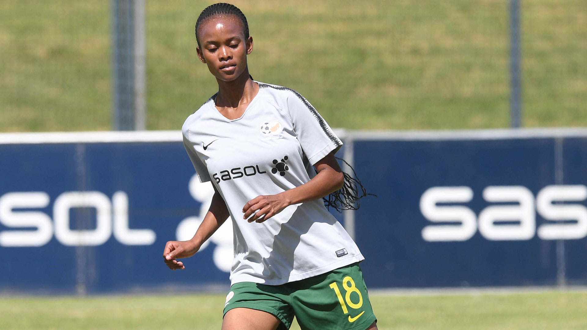 Sasol Banyana Banyana player, neliswa Luthi training during 2020 COSAFA Cup